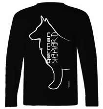German Shepherd Dog Breed T-Shirt, Long Sleeved, round neck, Ladies & Men's