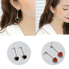 Long Section Earring Retro Jewelry Fashion Women  Heart Love Long Dangle Chain