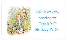 PERSONALISED STICKERS LABELS CHRISTENING FIRST BIRTHDAY PETER RABBIT ADDRESS