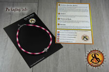 Cotton necklace burgundy red deep browns Honeycomb bee charm pink cats eye beads