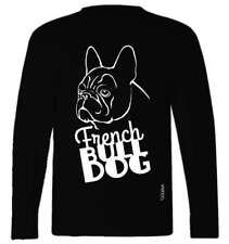 French Bulldog (face) Breed T-Shirt, Long Sleeved, round neck, Ladies & Men's