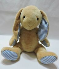 "Animal Alley Bunny Rabbit Plush Stuffed Animal 14"" Toy Tan Blue White Soft"