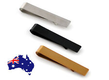 New Men Boy Silver Copper Black Stainless Steel Tie Clip Clasp Bar Wedding Party