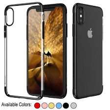 Ultra Thin Clear Shockproof Bumper cover Case For Apple iPhone X 8 7 6s Plus