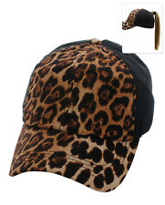 Leopard Ponytail Baseball Cap, ASSORTED COLORS