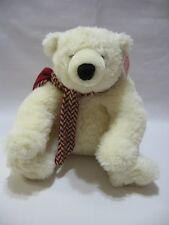 "Gund Codie Bear Plush Stuffed Animal New Creamy White 11"" With Scarf 88938"