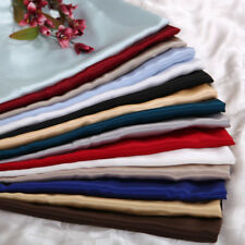 SOFT HOTEL QUALITY SATIN POLYESTER SILK KING 4PC SHEET SET (FLAT+FITTED+PILLOWS)