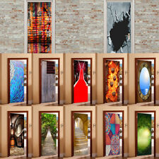 MagiDeal 3D Door Stickers Wall Decals Self Adhesive Mural Removable Decoration