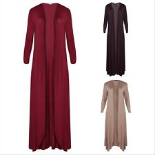 NEW Ladies Womens Long Sleeve Panelled Maxi Cardigan Cardi Plus Size
