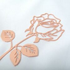 Classical Rose Shaped Stainless Steel Romantic Gift Bookmark Greeting Card