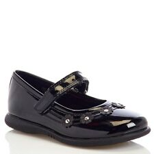 Melanie Taylor by Rachel Girls Flower Patent Black Mary Jane Shoes Toddler NEW