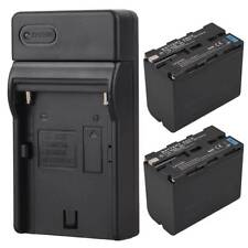 2x 7800mah Replacement Li-ion Battery + Charger For Sony NP-F960 NP-F970 Camera