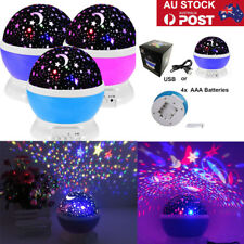 AU Star Sky LED Projector Night Light Lamp Kids Baby Bedroom Lighting Lamp Deco