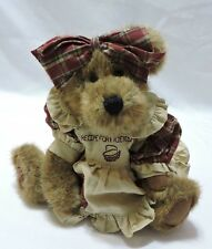 Boyds Patricia Cooksbeary Bear Jointed Plush Longaberger Exclusive 10""
