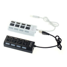 4 Port high speed USB 2.0 Power On/Off Switch LED Hub for PC Laptop Notebook