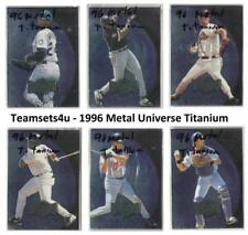 1996 Metal Universe Titanium Baseball Set ** Pick Your Team **