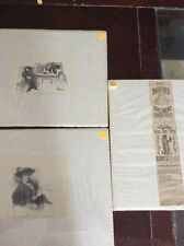 3 Original vintage magazine advertising 1911 Lady picture & 1882 Indian blood sy