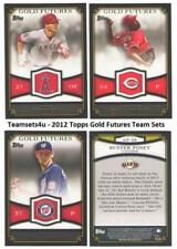2012 Topps Gold Futures Baseball Set ** Pick Your Team **