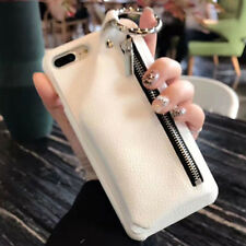 Luxury Genuine Cowhide Leather Removable Zipper Back Case For IPhone X 7 8 Plus