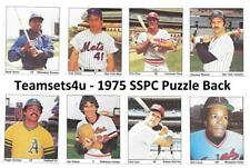 1975 SSPC Puzzle Back Baseball Set ** Pick Your Team **