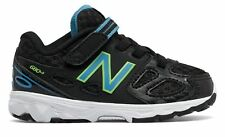 New Balance Hook and Loop 680v3 Infant Boys Shoes Black with Blue & Yellow