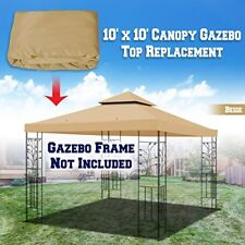 Replacement 10'X10' Gazebo Canopy Top Cover Patio Pavilion Sunshade Double tiers