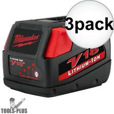 Milwaukee 48-11-1830 3x V18 Lithium-Ion Battery Pack New