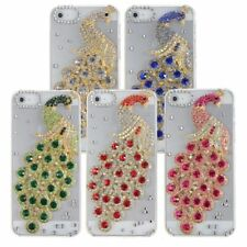 Peacock Sparkle Bling Crystal Diamond Slim Hard Case For iPhone 5