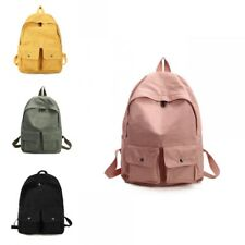 Shoulder Rucksack Canvas Backpack Fashion Women Travel Simple Schoolbag E0167