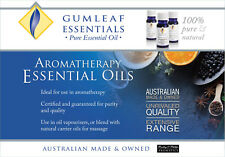 10ML GUMLEAF ESSENTIALS PURE ESSENTIAL OILS - Over 50 Oils to choose from.