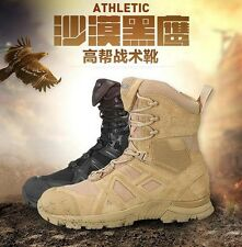 Army Athletic Tactical Comfort Leather Combat Military Ankle Boots Mens Shoes