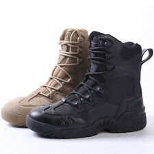 Men Army Tactical Comfort Leather Combat Military Ankle Boots Work Desert Shoes1
