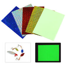 Fishing Lure Sticker 10*7.3cm Holographic Adhesive Film Flash Tape for Fly Baits