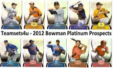 2012 Bowman Platinum Prospects Baseball Set ** Pick your Team ** See Checklist *
