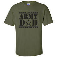"""""""Proud ARMY Dad"""" Military Green Short Sleeve T-Shirt - Adult Small to 5X-Large"""