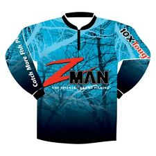 Zman Adult Long Sleeve Tournament Fishing Shirt with Front Zip
