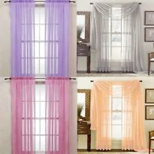 New Solid Sheer Curtain Window Curtains Bedroom Voile Drape Panel Sheer Curtains