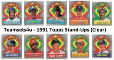 1991 Topps Stand-Ups (Clear) Baseball Set ** Pick Your Team **