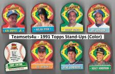1991 Topps Stand-Ups (Color) Baseball Set ** Pick Your Team **