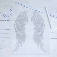 2pcs Large Angel Wings Rhinestone Transfer Iron On Hot Fix Motif Hotfix Applique