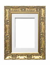 Wide Ornate MUSE Picture Frame Photo Frame Poster Frame with Mount Gold ,Silver