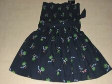 Hollister By Abercrombie Womens Navy Printed Strapless Sun Dress XS/S/M/L-NWT