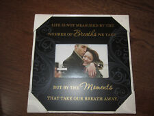 NEW in box Malden Intl Picture Frame Black 'Moments that Take Your Breath Away'