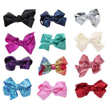 Kids Girls Baby Sequined Bowknot Hair Clips Hairpin Headwear Party Accessories