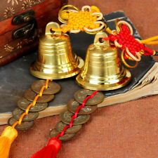 MagiDeal Chinese Lucky Feng Shui Hanging Bell with Five Ancient Coins Tassel