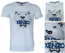 "New Mens Kenzo Paris White Tshirts All Sizes Embroidered ""Tiger"" #MX"
