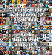 Music Videos & Concerts DVD Lot #1: DISC ONLY - Pick Items to Bundle and Save!