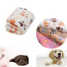 US Pet Mat Cat Dog Puppy Fleece Soft Blanket Bed Cushion Small Large Paw Print
