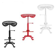 Industrial Style Cast Iron Tractor Seat Bar Stool Adjustable Height Swivel Chair