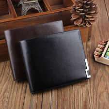 New Mens Leather ID Credit Card Holder Clutch Bifold Coin Purse Wallet Pockets